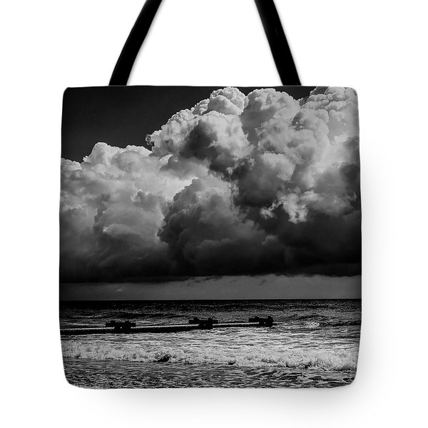 Tote Bag featuring the photograph Thunder Head By The Sea by Louis Dallara