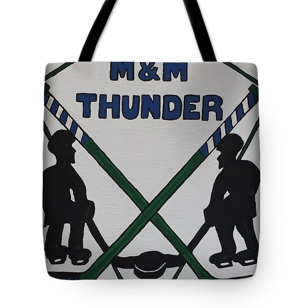 Thunder Hockey Tote Bag