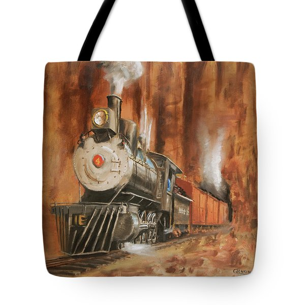 Thunder In Cathedral Canyon Tote Bag by Christopher Jenkins