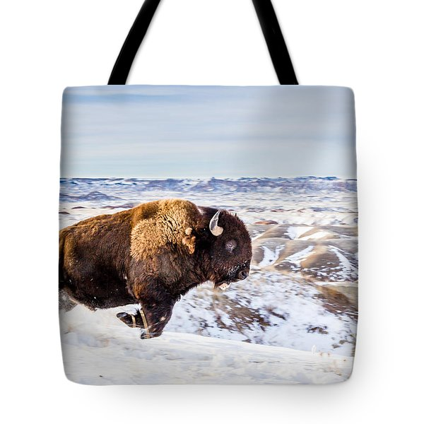 Thunder In The Snow Tote Bag