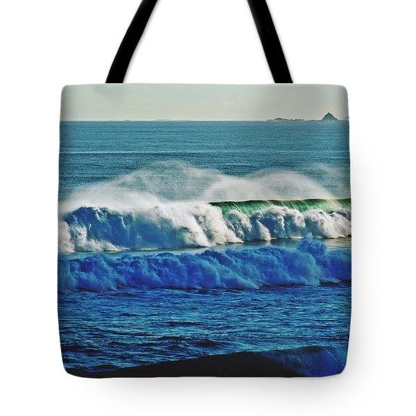Thunder Of The Waves Tote Bag by Blair Stuart