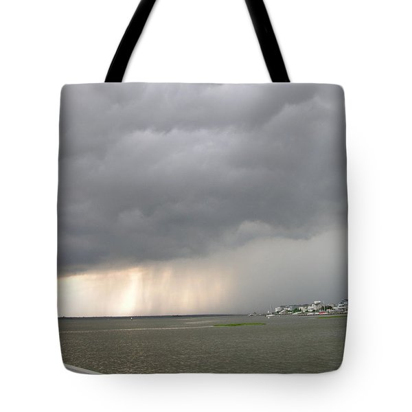 Thunder On The Bay Tote Bag