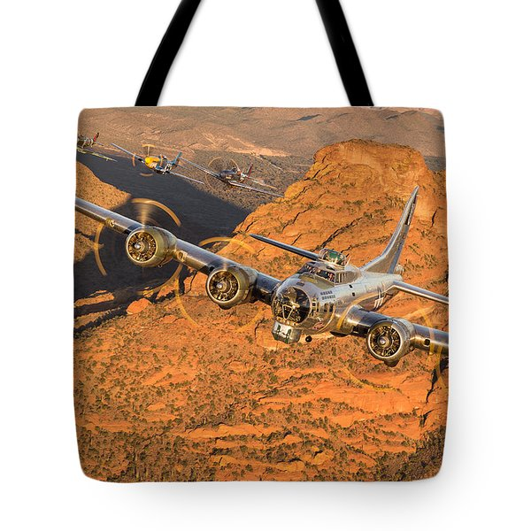 Thunder On The Mountain Tote Bag