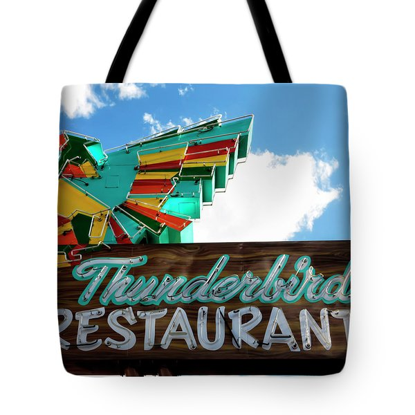 Thunderbird Restaurant Vintage Neon Sign Tote Bag