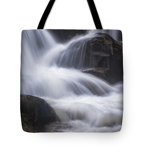 Tote Bag featuring the photograph Thundering River by Tim Reaves