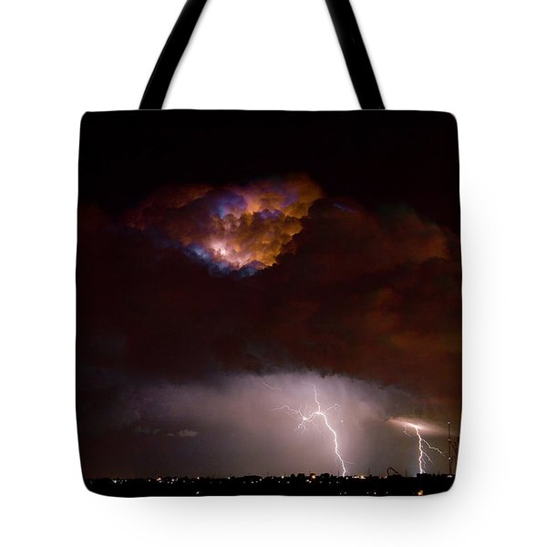 Thunderstorm Boulder County 08-15-10 Tote Bag by James BO  Insogna