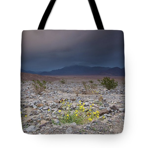 Thunderstorm Over Death Valley National Park Tote Bag