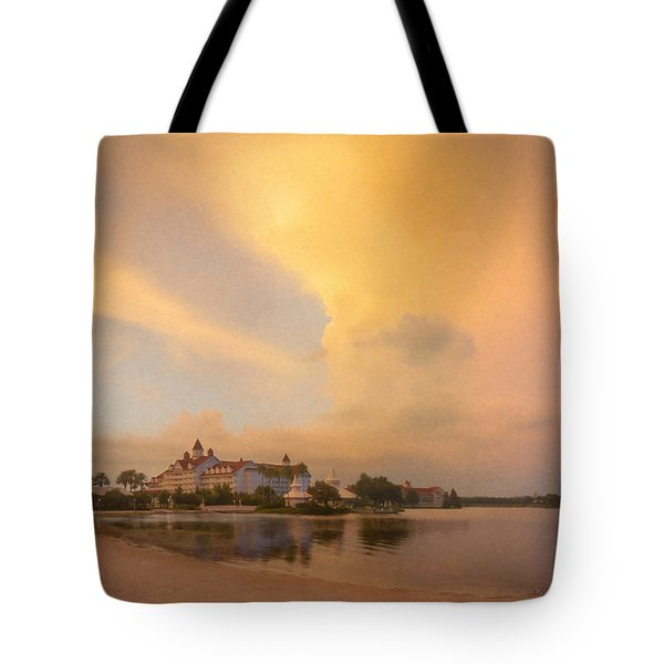Thunderstorm Over Disney Grand Floridian Resort Tote Bag