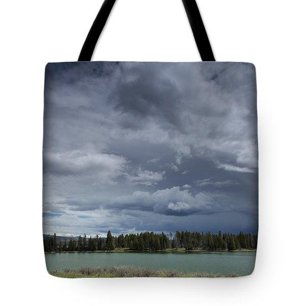Thunderstorm Over Indian Pond Tote Bag