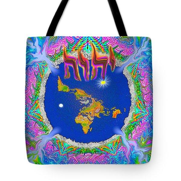 Y H W H Creation Mandala Flat Earth Tote Bag