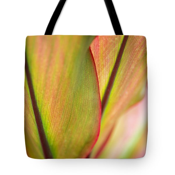 Tote Bag featuring the photograph Ti-leaf Detail by Charmian Vistaunet
