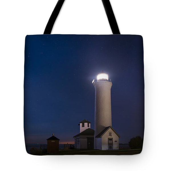 Tote Bag featuring the photograph Tibbets Point Night by Mark Papke