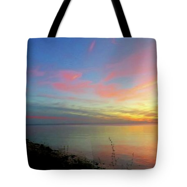 Sunset At Tibbetts Point Light, 2015 Tote Bag