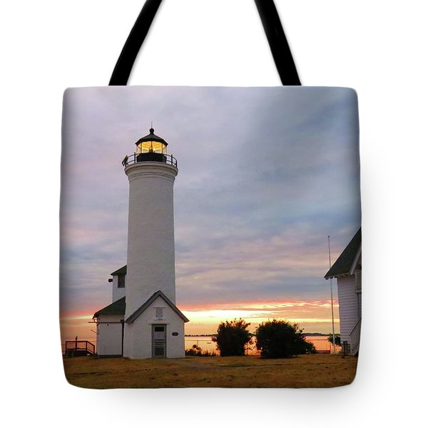 Tibbetts Point Lighthouse, July Sunset Tote Bag