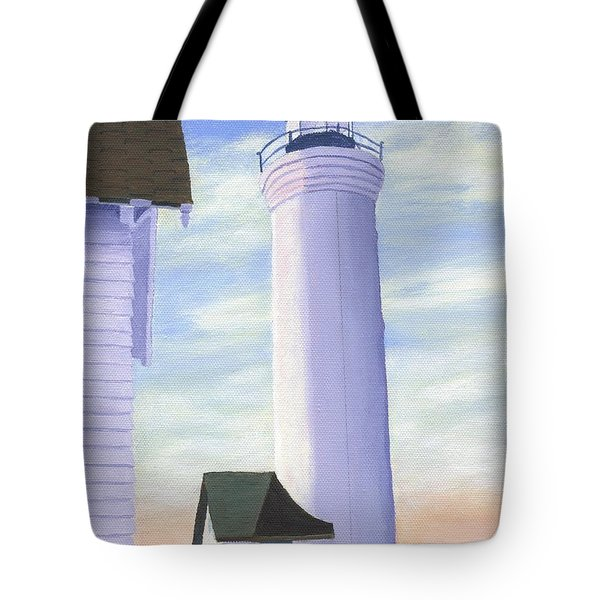 Tote Bag featuring the painting Tibbett's Point by Lynne Reichhart