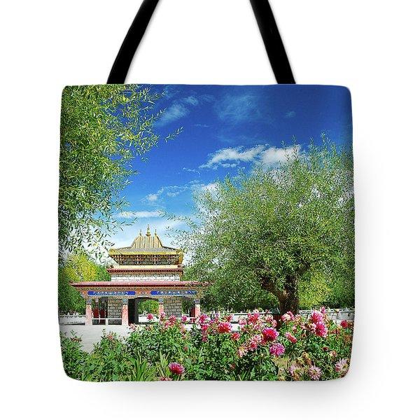 Tibet Scenery In Autumn Tote Bag