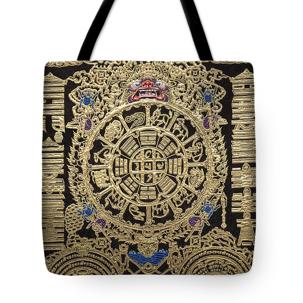 Tibetan Astrological Diagram Tote Bag