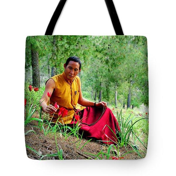 Tibetan Doctor In Lahav Forest Tote Bag