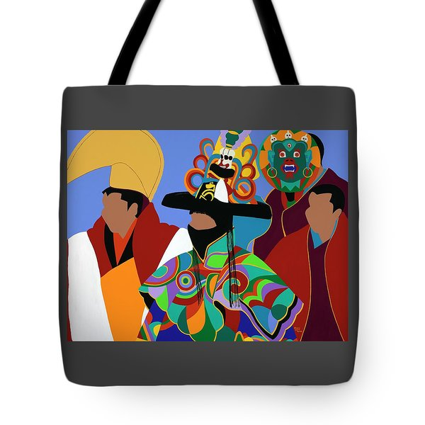 Tibetan Monks Cham Dancer Tote Bag