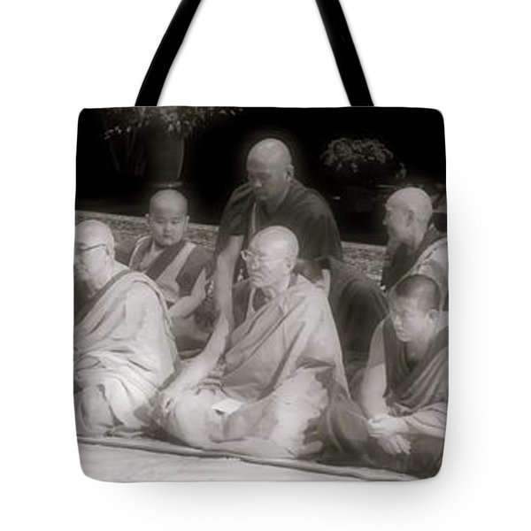 Tibetan Monks Tote Bag by Kate Purdy