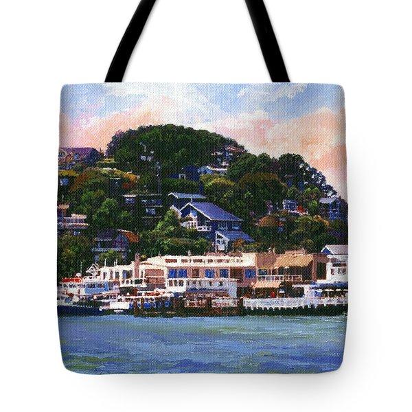 Tiburon California Waterfront Tote Bag