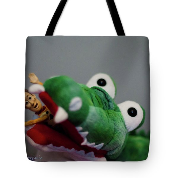 Tick Tock Crock Tote Bag by Stefanie Silva