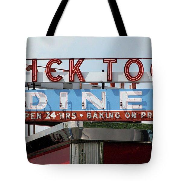 Tick Tock Diner Tote Bag