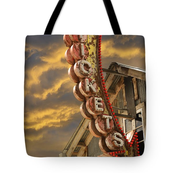Tote Bag featuring the photograph Tickets  by Laura Fasulo