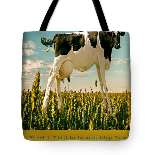 Ticklish Cow Tote Bag by James Bethanis