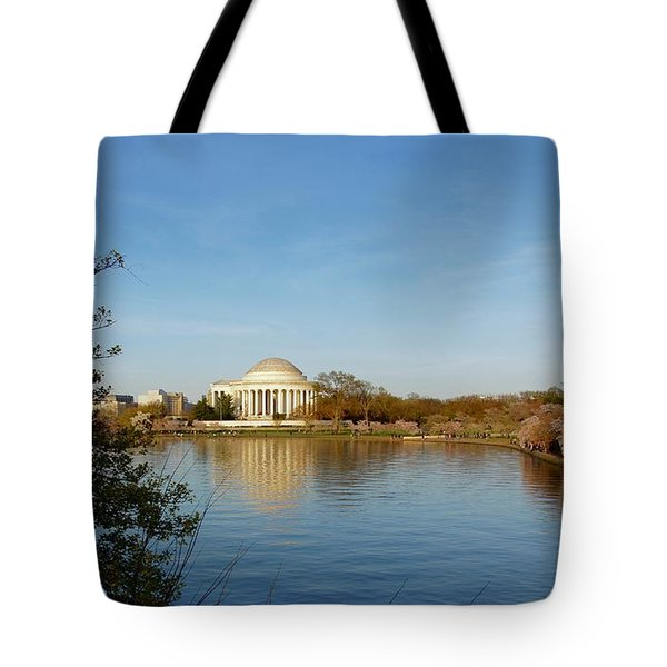 Tidal Basin And Jefferson Memorial Tote Bag