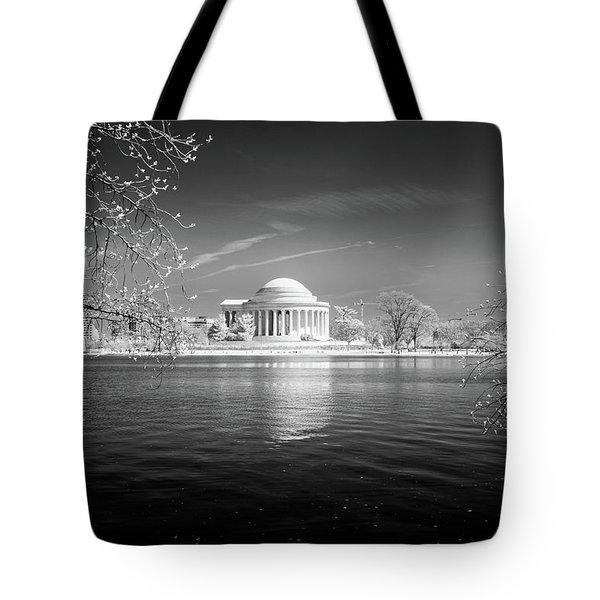 Tidal Basin Jefferson Memorial Tote Bag by Paul Seymour