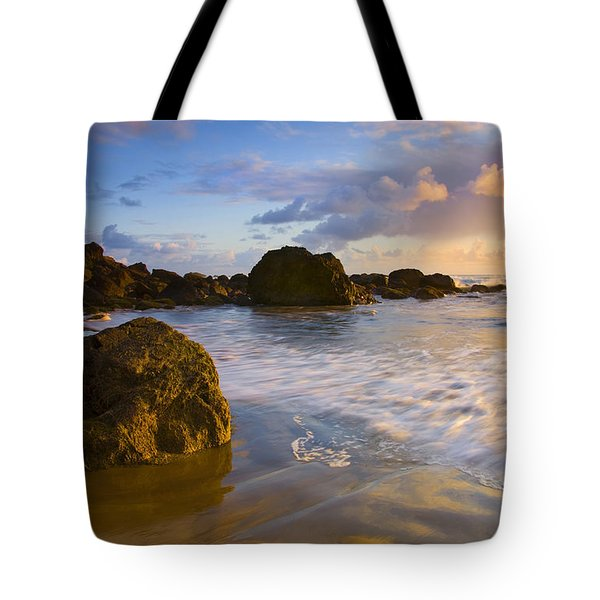 Tidal Flow Tote Bag by Mike  Dawson
