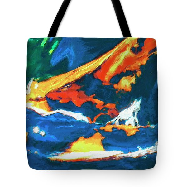 Tote Bag featuring the painting Tidal Forces by Dominic Piperata