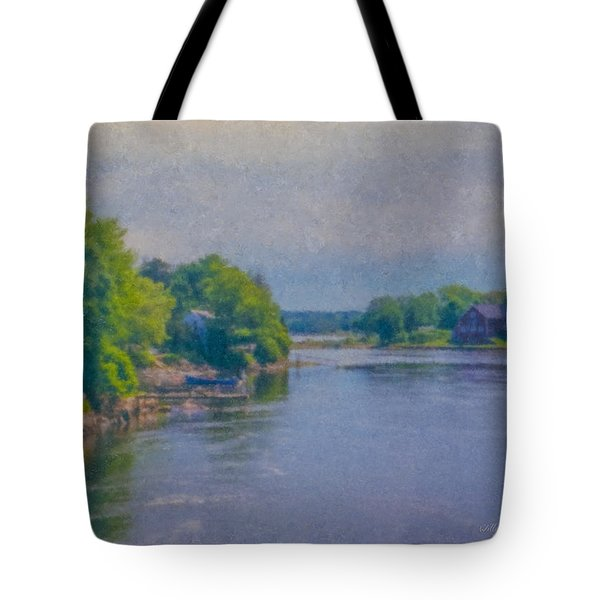 Tidal Inlet In Southern Maine Tote Bag