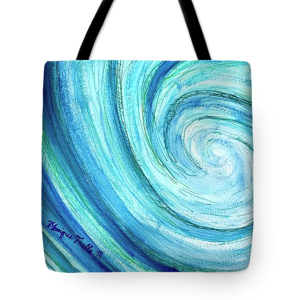 Tote Bag featuring the painting Tidal by Monique Faella