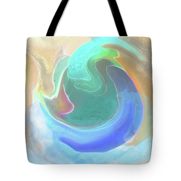 Tote Bag featuring the digital art Tidal Pool by Gina Harrison