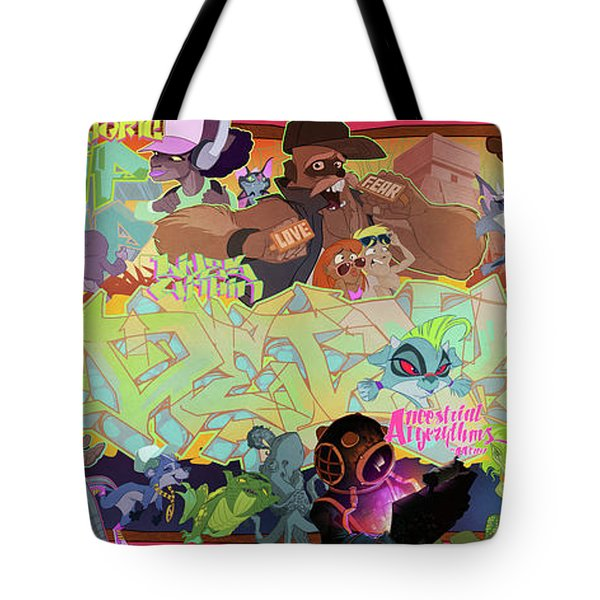 Tidal Recall 2 Tote Bag by Nelson  Dedos Garcia