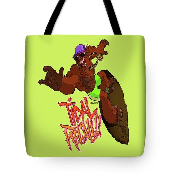 Tidal Recall  Tote Bag