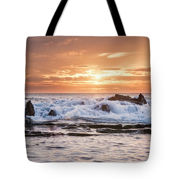 Tidal Sunset Tote Bag by Heather Applegate