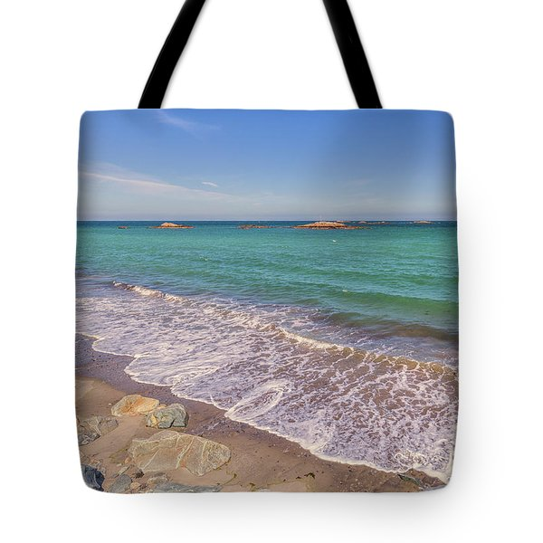 Tide Change At Minot Beach In Scituate Massachusetts Tote Bag