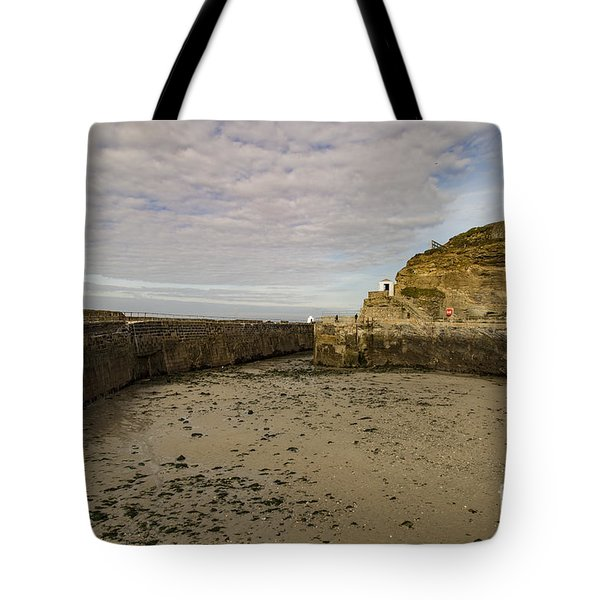Tote Bag featuring the photograph Tide Out Portreath by Brian Roscorla