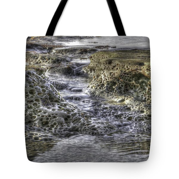 Tide Pool Waterfall Tote Bag