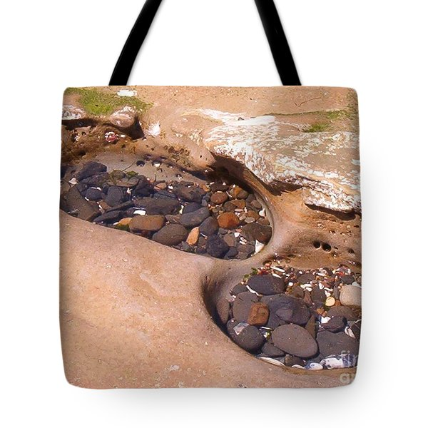 Tote Bag featuring the photograph Tide Pools by Charles Robinson