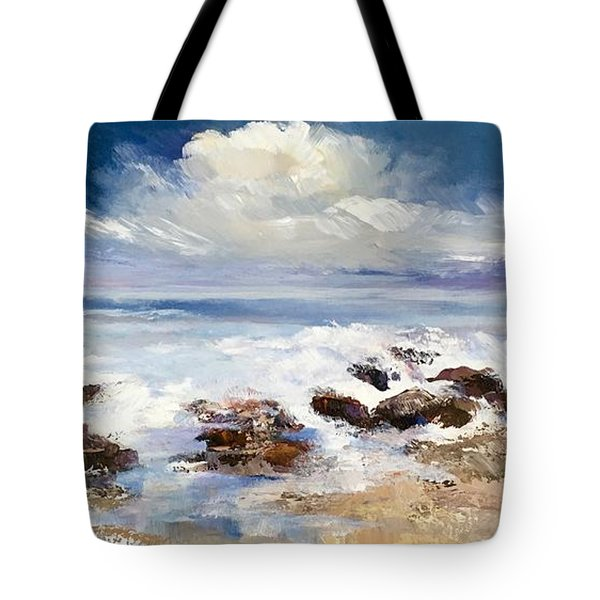 Tote Bag featuring the painting Tidepool by Helen Harris