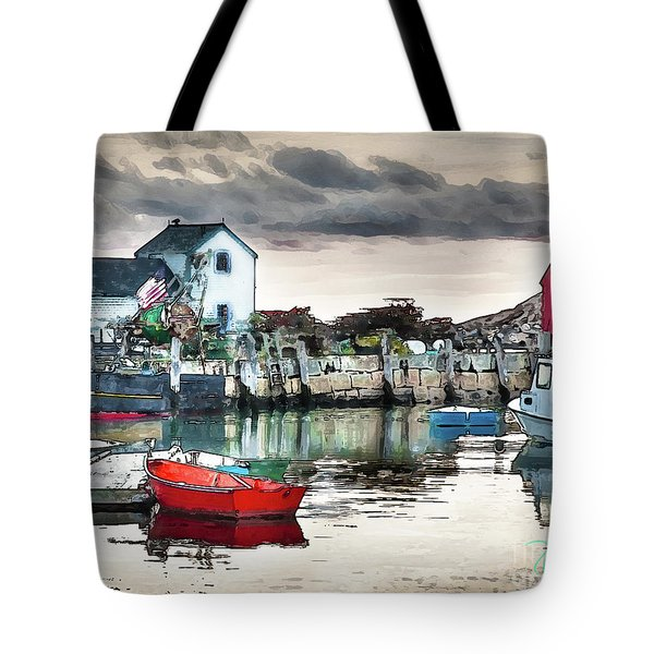 Tide's Out Tote Bag by Tom Cameron