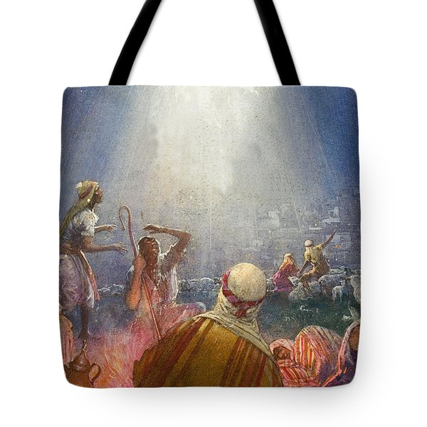 Tidings Of Great Joy Tote Bag by John Millar Watt