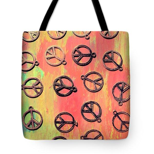 Tie-dye Peace Pendants Tote Bag