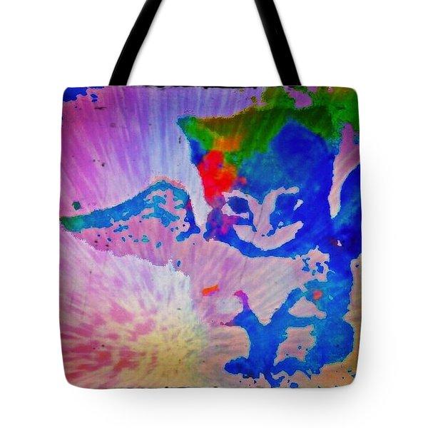 Tie Dye Tiger Tote Bag