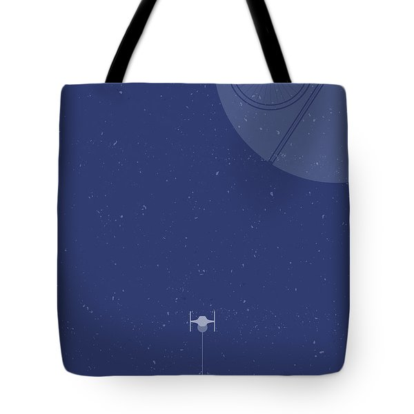 Tie Fighter Defends The Death Star Tote Bag
