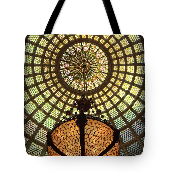 Tiffany Ceiling In The Chicago Cultural Center Tote Bag